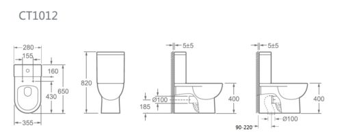 Toilet- Back To Wall- TC-1012-S 2